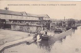 CARTE POSTALE  MONTCEAU LES MINES 71  Atelier De Triage Et Criblage N°3.Chargement Direct - Montceau Les Mines