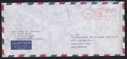 Saudi Arabia: Airmail Cover Riyadh To Germany, Meter Cancel (minor Damage, See Scan) - Saoedi-Arabië