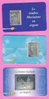Timbres Argent Sous Blister-3925-4242-AA430 - France