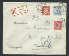 L Recom Affr 30 + 15o + 27o De NASSJO/1927 Pour Bruxelles - Suède