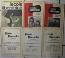 6 Revues L´école Libératrice 1964-1967. Syndicats National Des Instituteurs Et Institutrices. Paix Algérie - Journaux - Quotidiens