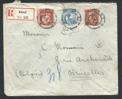 L Recom Affr 30 + 27o 30o De NASSJO/1926 Pour Bruxelles - Suède