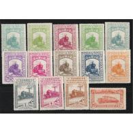 ES469STV-LFT**469.Spain Espagne CONGRESO INTERNACIONAL FERROCARRILES 1930 (Ed 469/82*)sin Charnela - 1889-1931 Reino: Alfonso XIII