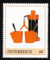 ÖSTERREICH 2015 ** Kaffeemaschine, Kaffee, Coffee, Design 70er Jahre - PM Personalisierte Marke MNH - Getränke