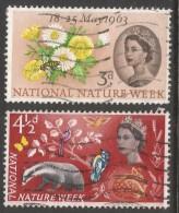 Great Britain. 1963 National Nature Week. Used Complete Set. SG 637-638 - 1952-.... (Elizabeth II)