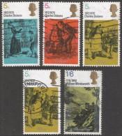Great Britain. 1970 Literary Anniversaries. Charles Dickens & William Wordsworth. Used Complete Set. SG 824-828 - 1952-.... (Elizabeth II)