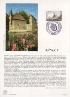 """Encart Philatélique 1er Jour De 1977 """" ANNECY """" N° YT 1935. - Documents De La Poste"""