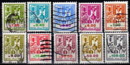 ISRAEL 1982 - MiNr: 885-965 Lot Landesfrüchte 10 Verschiedene  Used - Gebraucht (ohne Tabs)