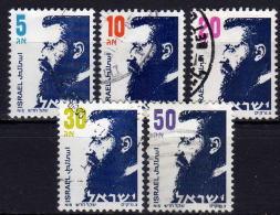 ISRAEL 1986 - MiNr: 1019-1023 5 X Herzl  Used - Gebraucht (ohne Tabs)