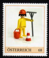 ÖSTERREICH 2015 ** Playmobil, Bauarbeiter, Spielfigur - PM Personalisierte Marke MNH - Kind & Jugend