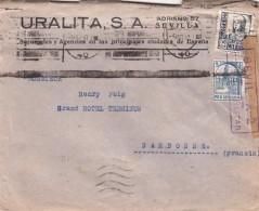 ESPAGNE LETTRE AVEC CENSURE MILITAIRE SEVILLA   / 7635 - Spain