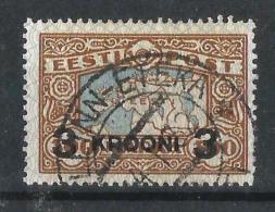 ESTONIA 1930 SELLO DE 1924 SOBRECARGADO Final De Serie - Estonia
