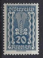Austria  1922/24  20K  (*) MH Mi.370 - Ungebraucht
