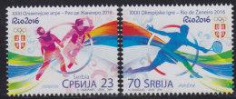 Serbia 2016 XXXI Summer Olympic Games In Rio De Janeiro (Olimpiadi Estive Di Rio De Janeiro), MNH (**) - Serbia
