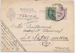 LPP5B- ESPAGNE EP CP BARCELONA / LA SEYNE SUR MER 24/11/1927 - 1850-1931