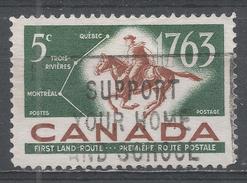 Canada 1963. Scott #413 (U) Postrider And First Land Mail Routes - 1952-.... Règne D'Elizabeth II
