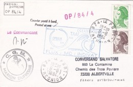 TAATF 1984 LETTRE DE LE PORT REUNION - Terres Australes Et Antarctiques Françaises (TAAF)