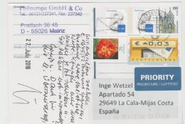DBG096 / Ganzsache Mit Div.  Zusatzmarken 2016 - BRD