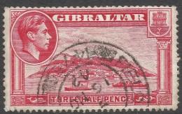 Gibraltar. 1938-51 KGVI. 1½d Red P14 Used. SG123 - Gibraltar