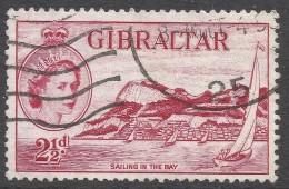 Gibraltar. 1953-59 QEII. 2½d Used. SG149 - Gibraltar