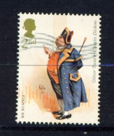GREAT BRITAIN  -  2012  Charles Dickens  2nd  Used As Scan - Used Stamps