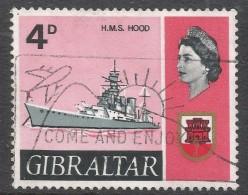Gibraltar. 1967-69 Ships. 4d Used. SG205 - Gibraltar