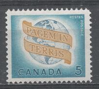 Canada 1964. Scott #416 (MNH) ''Peace On Earth'' - 1952-.... Règne D'Elizabeth II