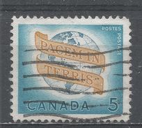 Canada 1964. Scott #416 (U) ''Peace On Earth'' - 1952-.... Règne D'Elizabeth II