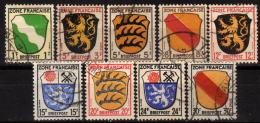 FRANZ.ZONE Allgemein 1945 - Lot MiNr: 1-10 Used - Zone Française