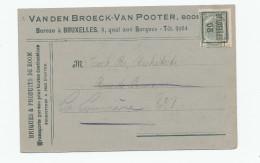 990/23 - Carte Publicitaire PREO Bruxelles 1908 - Briques De BOOM Vanden Broeck - Van Pooter - Precancels