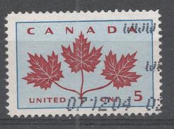 Canada 1964. Scott #417 (U) Three-Maple-Leaf Emblem (Canadian Unity) - 1952-.... Règne D'Elizabeth II