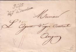 VAUCLUSE - CURSIVE - Préfet Dépt De Vaucluse - LETTRE SANS TEXTE NI DATE POUR L'AGENT VOYER CENTRAL D'AVIGNON. - Marcophilie (Lettres)