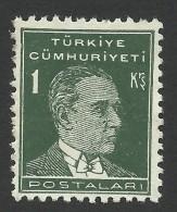 Turkey, 1 K. 1931, Sc # 740, Mi # 947, MH - 1921-... Republic
