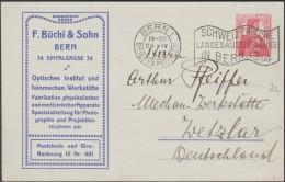 Suisse 1913. Entier Postal TSC. Fabrication De Matériel D'optique. Appareils De Physique Et De Médecine, Photographie - Física