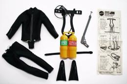 Vintage BIG JIM - ACTION FIGURE PARTS - SCUBA GEAR SET - Mattel 1971 - Action Man - Action Man