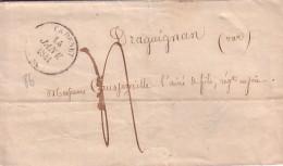 VAUCLUSE - CADENET - T14 DU 14 JANVIER 1841 - TAXE 4 MANUSCRITE POUR DRAGUIGNAN VAR - AVEC TEXTE ET SIGNATURE ADOLPHE RI - Marcophilie (Lettres)