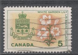 Canada 1964, Scott #419 White Garden Lily And Arms Of Quebec (U) - 1952-.... Règne D'Elizabeth II