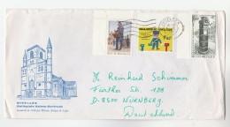 1984 BELGIUM COVER Illus NIVELLES, COLLEGIATE SAINTE GERTRUDE Franked POST DAY, YOUTH PHILATELY Stamps - Belgium