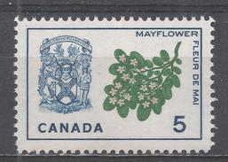 Canada 1965, Scott #420 Mayflower And Arms Of Nova Scotia (MNH) - 1952-.... Règne D'Elizabeth II