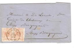 TP 28(2) S/facture Fabrique D'huiles-tourteaux Savonnerie Saline C.Tournai 10/2/1880 V.Strepy Bracquegnies PR3280 - 1869-1888 Lion Couché