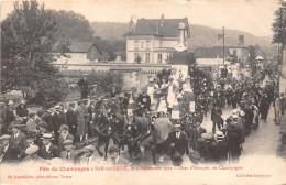 10-BAR-SUR-SEINE- FËTE DE CHAMPAGNE, LE 4 SEPTEMBRE 1921 CHAR D'ESSOYES - Bar-sur-Seine