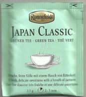 TEA BAG  (FULL) SACHET DE THÉ JAPAN CLASSIC RONNEFELDT - Unclassified