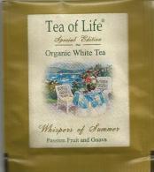 TEA BAG  (FULL) SACHET DE THÉ TEA OF LIFE ORGANIC WHITE - Unclassified