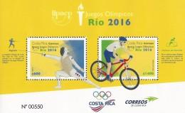 COSTA RICA UPAEP, OLYMPIC GAMES RÍO 2016, BIKING, FENCING, MNH 2016 NEW - Costa Rica