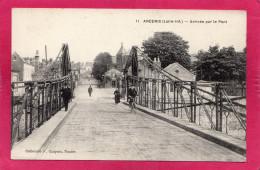 ANCENIS, Arrivée Par Le Pont, Animée, (F. Chapeau), (Loire-Atlantique 44) - Ancenis