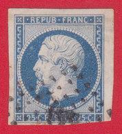 N° 10, 25c Bleu Bien Margé - 1852 Louis-Napoléon