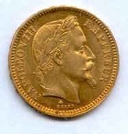 20 FRANCS OR NAPOLEON III TETE LAUREE DE 1861A - L. 20 Francs