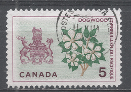 Canada 1965, Scott #423 Dogwood And Arms Of British Columbia (U) - 1952-.... Règne D'Elizabeth II