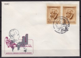 Gramophone/ Béla Bartók Hungarian Composer - 1988 HUNGARY - FDC Cover Letter - Musik