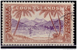 Cook Islands 1949, Ngatangiia Channel Rarotonga, 1/2p, Used - Cookinseln